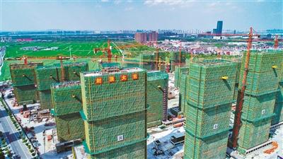 萧山最大体量EPC模式安置房首幢楼结顶